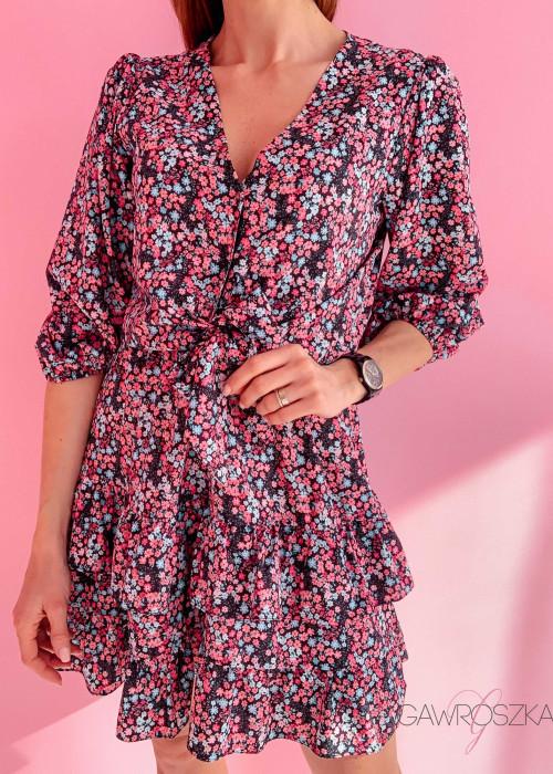 Sukienka Marcela - drobne kwiaty