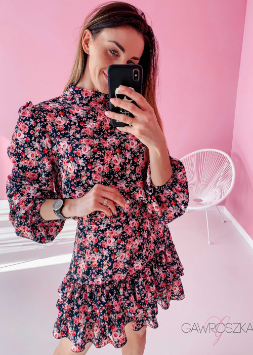 Sukienka Megi PREMIUM - róże