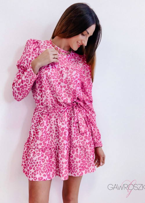 PRE ORDER Sukienka Laura - różowa panterka