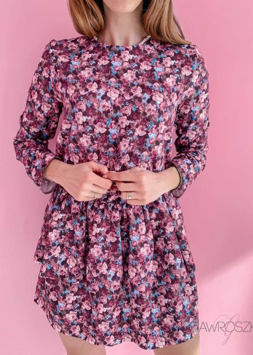Sukienka Loe - różowe kwiaty