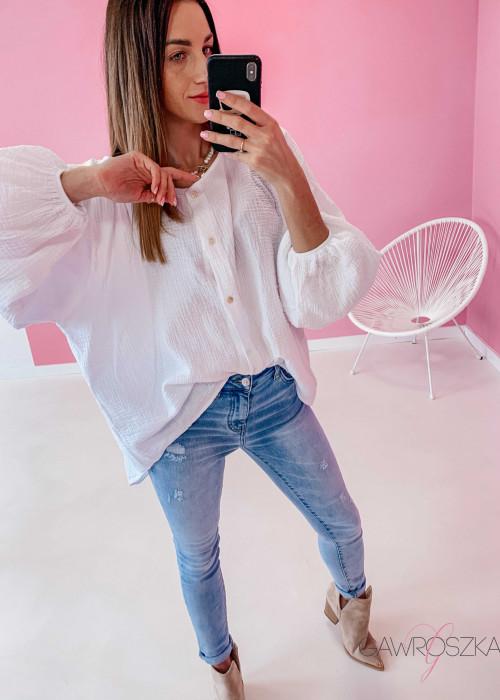 Koszula muślinowa oversize - biała