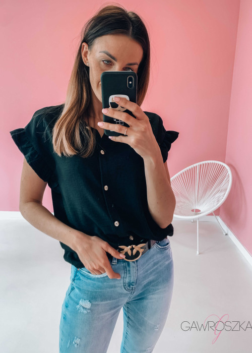 Koszula falbanka - czarna