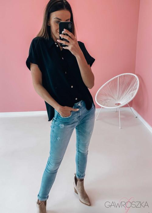 Koszula krótki rękaw - czarna