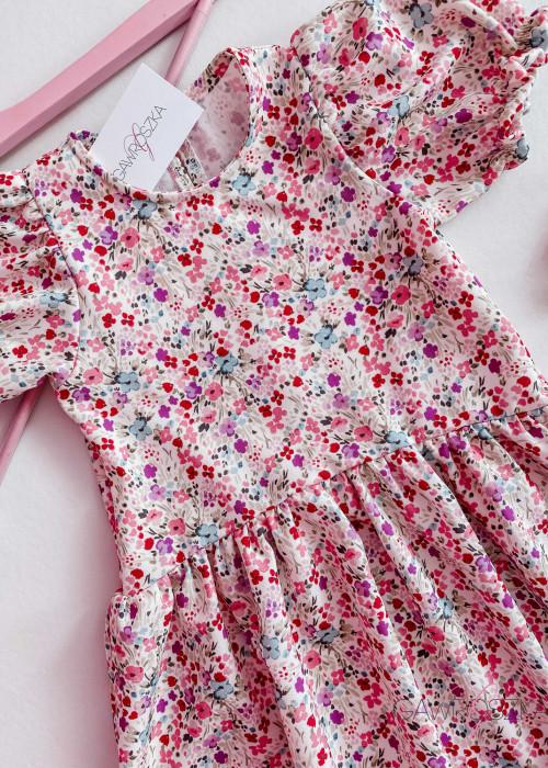 Sukienka dziewczęca - drobne kwiaty