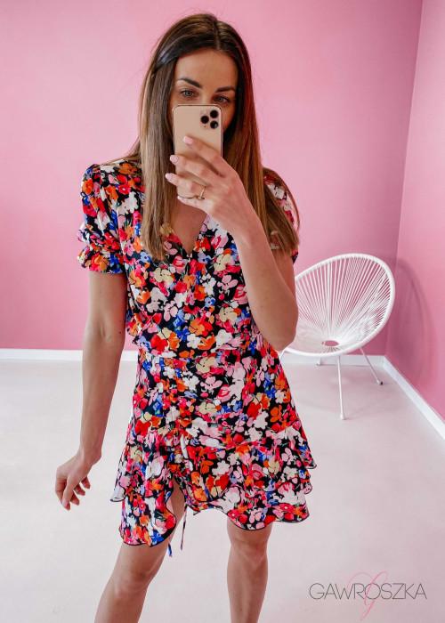 Sukienka Megi z regulowaną długością - bratki