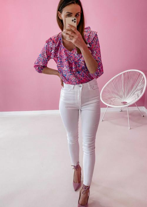 Spodnie jeans - białe