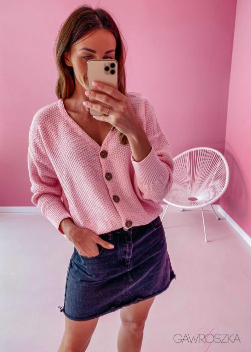 Sweter ryżyk premium - rożowy