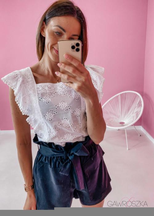 Bluzka haftowana - biała