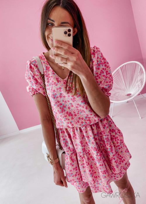 Sukienka Lea - cukierkowa w kwiatuszki