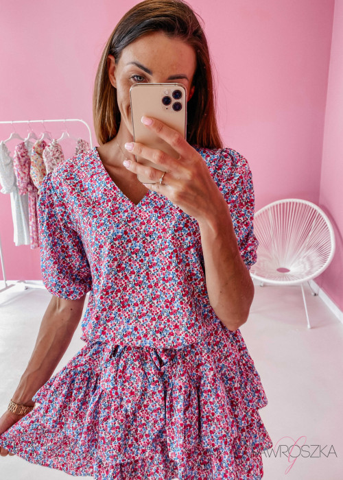Sukienka Sofia II - drobne kwiatuszki