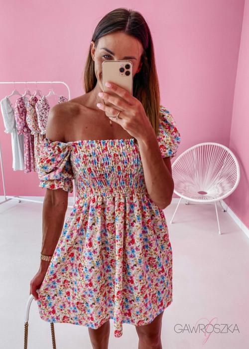 Sukienka Pola - kolorowe kwiatuszki