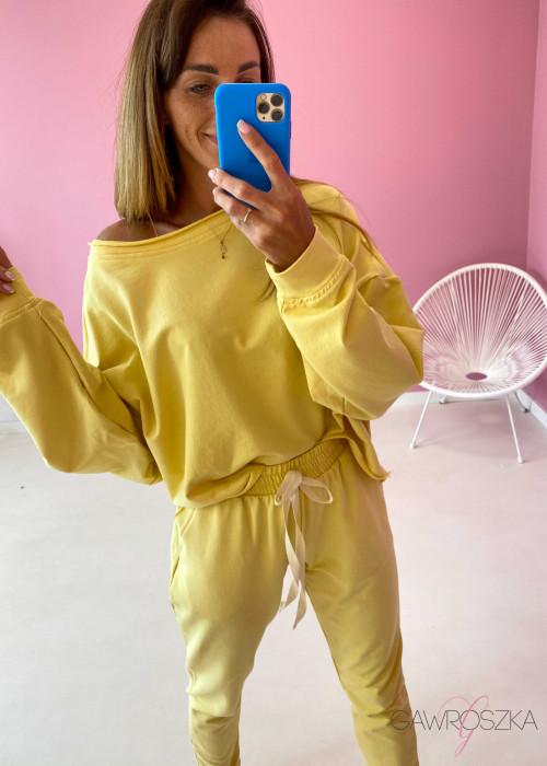 Komplet dresowy - żółty