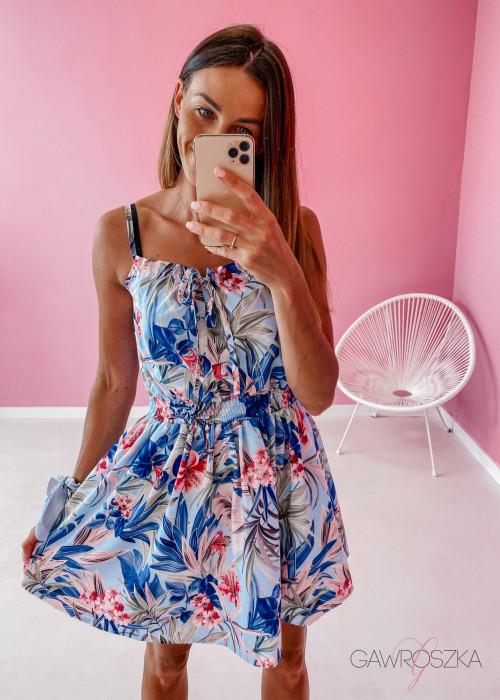 Sukienka Bari - błękitna