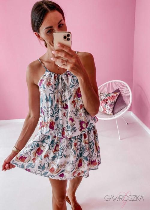 Sukienka Loci - duże kwiaty