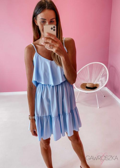 Sukienka Eva - błękitna