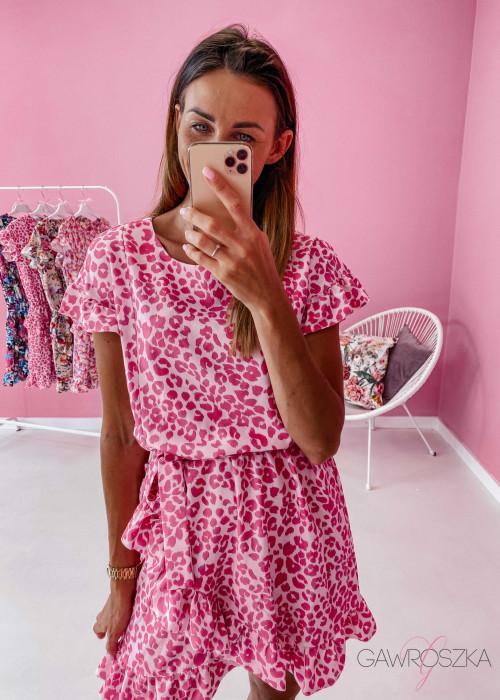 Sukienka Nina - różowa panterka