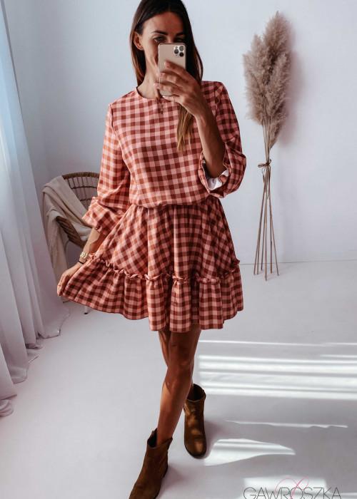 Sukienka Lena w kratkę