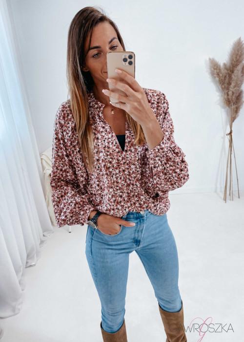 Koszula Ames - różowa w kwiaty