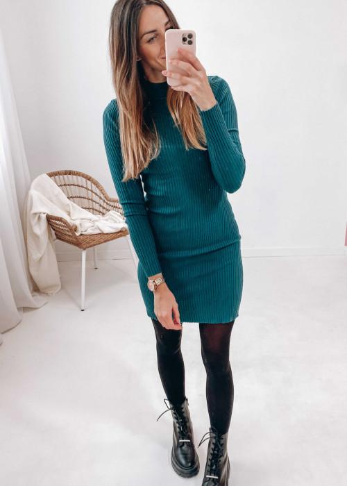 Sukienka Klara - butelkowa zieleń